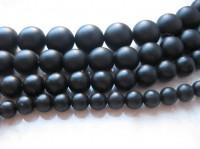 25mm matte sorte perler