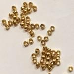 Guldbelagte wireklemmer 2mm