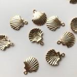 guld muslinge vedhæng