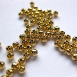 2,4mm guldbelagte perler, 100 stk-20