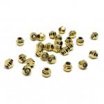Rillede guld pynte perler