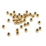 4mm guld perler