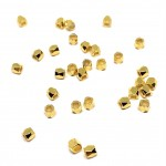 kantede guld perler