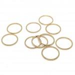 15mm guld ringe til smykkefremstilling
