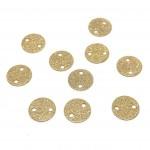 8mm guld mønt med 2 huller