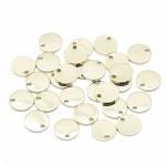 Guld mønt vedhæng