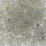 8/0 Glas seed beads, rainbow clear 2-3mm, 10g-20