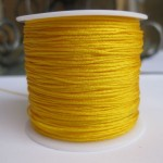 1,0mm nylon knyttesnor, gul-20
