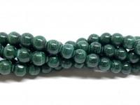6mm naturlig malakit perler