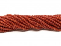 2mm røde koral perler