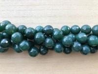 16mm facetslebne grønne perler