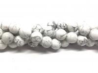 12mm hvide howlite perler