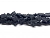 diamant formede perler af lava
