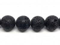 22mm sorte lava perler