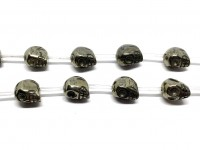 skull perle af pyrit