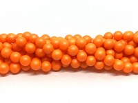 8mm neon orange perler