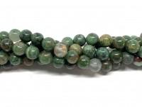 8nm runde grønne jade perler