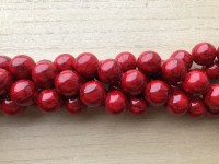 14mm røde perler