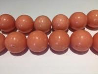 20mm fersken farvede perler
