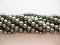 Pyrit, rund 6mm, hel streng-20