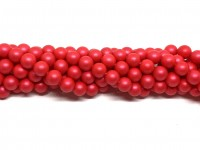 8mm neon røde perler
