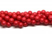12mm neon røde perler