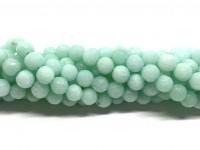 6mm facetslebne mint farvede perler