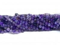 3mm facetslebne perler lilla