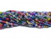 3mm facetslebne multifarvede perler