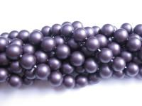 10mm matte runde lilla shell perler