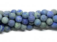 14mm matte blå grønne perler