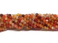3mm facetslebne røde perler