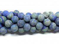 12mm blå grønne matte perler