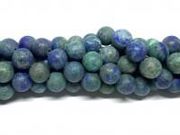 10mm blå grønne lapis lazuli perler