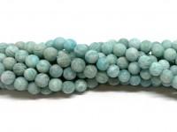 6mm matte amazonit perler