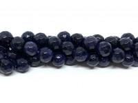 8mm facetslebet blå goldstone