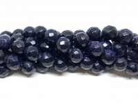 10mm blå goldstone perler