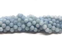 6mm runde aquamarin perler