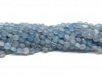 4mm facetslebne mønter af aquamarin