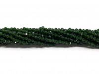 2mm facetslebet grøn goldstone
