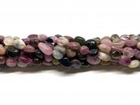 Multifarvet turmalin små nuggets perler