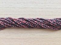 2mm rød tigerøje perler