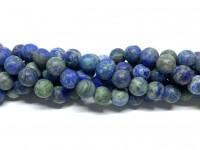 8mm blå grønne perler