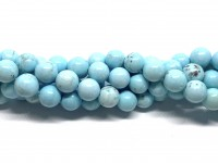 10mm larimar blå perler
