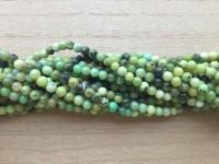 4mm rund Chrysoprase perler