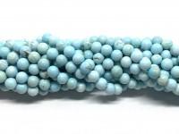 6mm blå magnesit perler