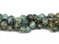 12mm facetslebne runde perler afrikansk turkis