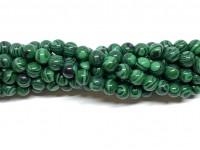 6mm syntetisk malakit perler