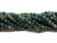6mm mos agat perler