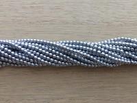 2mm sølv perler